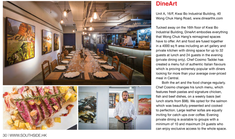 Dine Art - Southside Magazine Feature September 2015.png