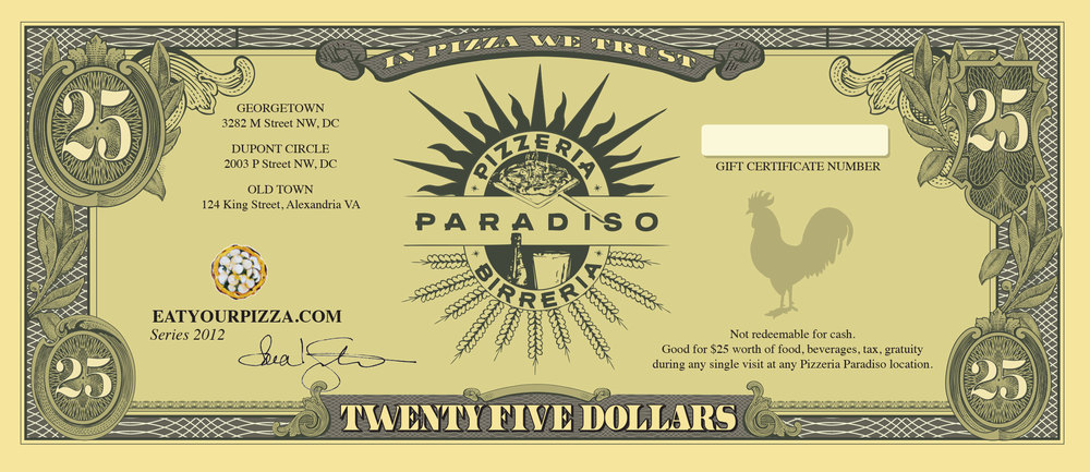 Purchase Pizzeria Paradiso Gift Certificates Online From Yelp!