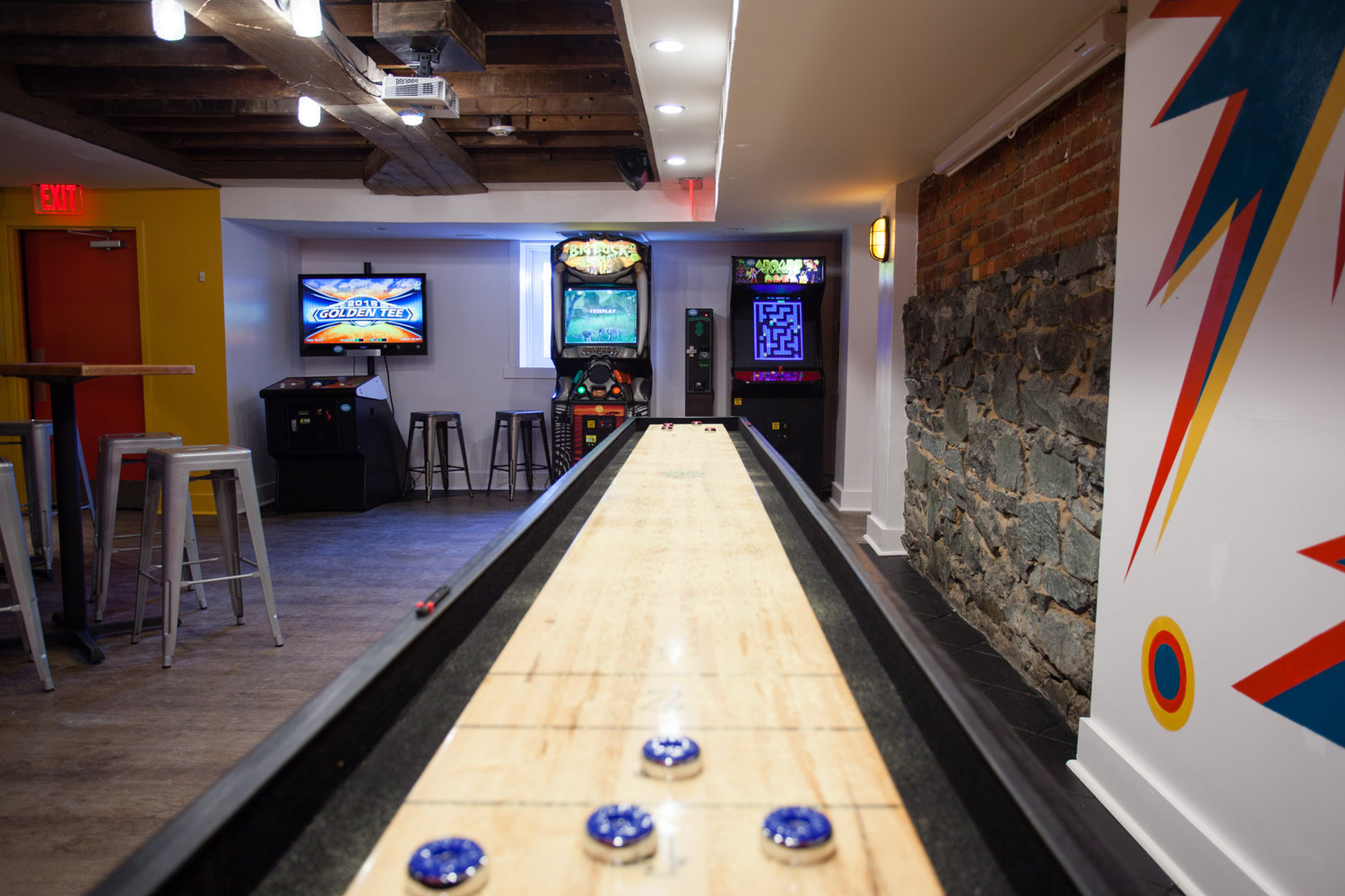 Image result for pizzeria paradiso game room