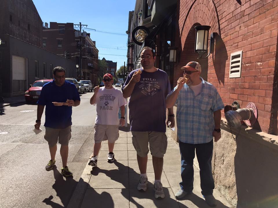 Enjoying a bite between bites, Cincinnati food tours