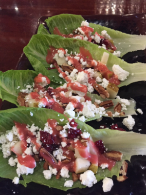 Pear Romaine Boats with Pecans
