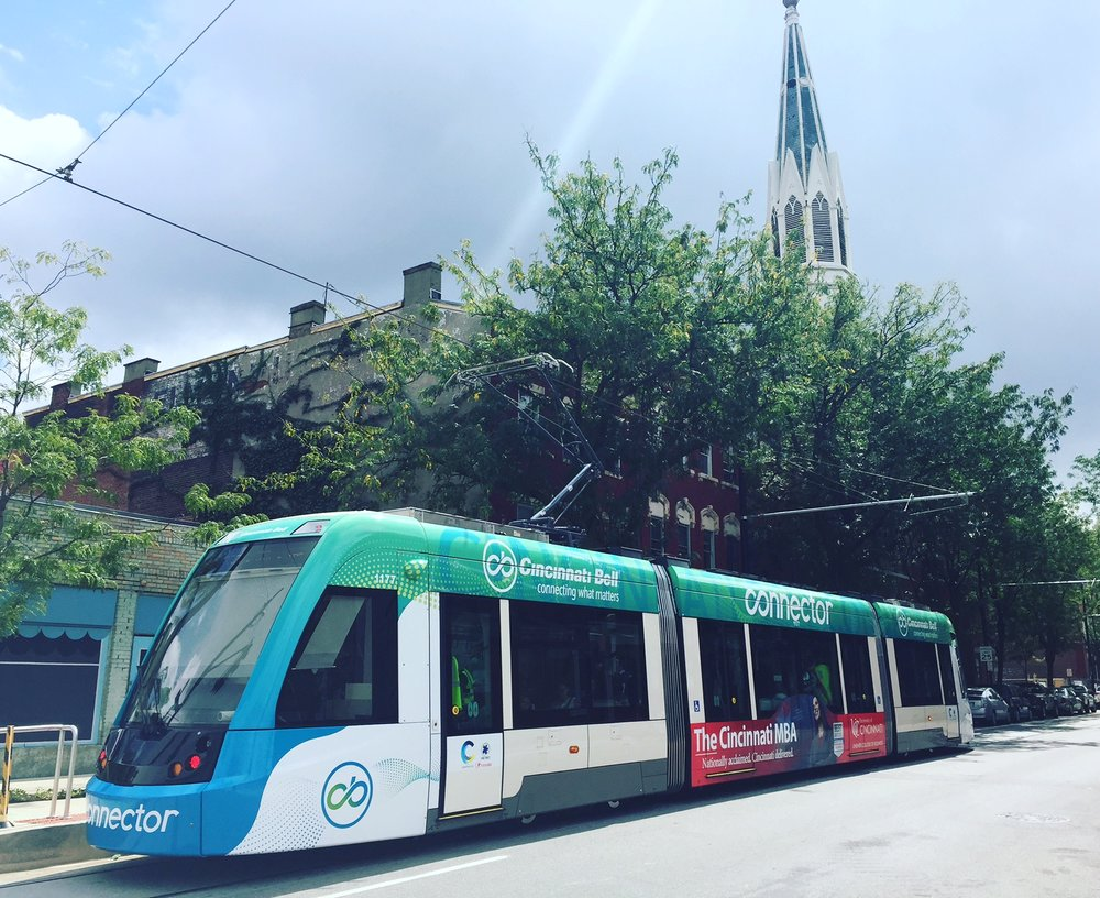 Our Taste the Streetcar Tour is a step on, step off tour that combines a ride on the Cincinnati Bell Connector with 4 tastes along the 3.6 mile loop. The 3-hour tour includes a glass of wine or beer. Price per person is $50.