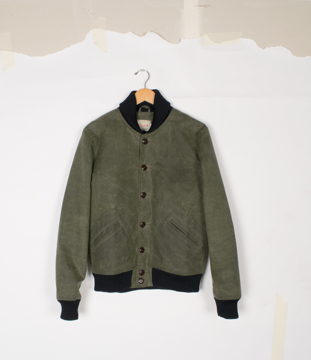 Club Jacket - Loden Waxed Canvas - $475