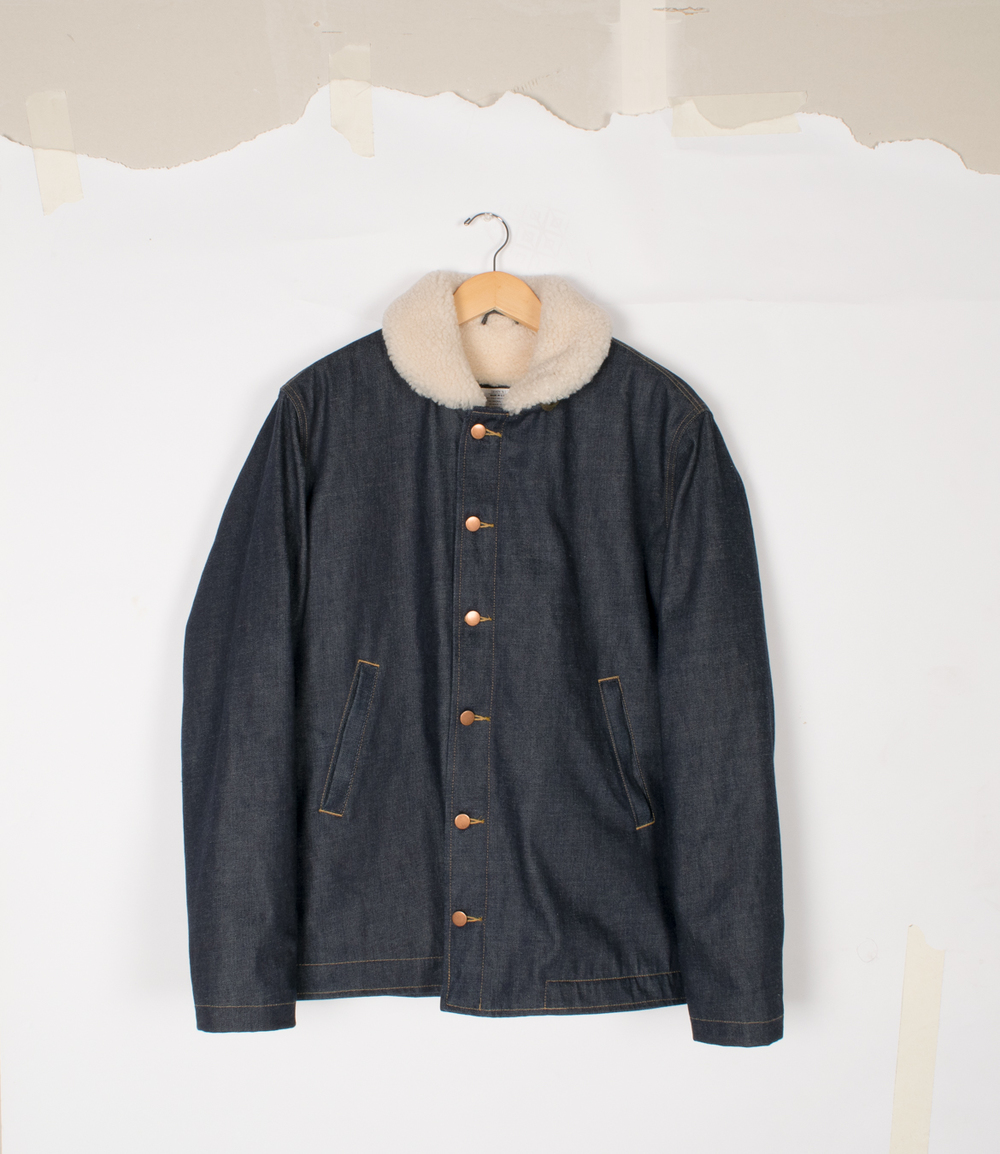 N-1 Deck Jacket - Selvedge Denim/Natural - $595/$1250