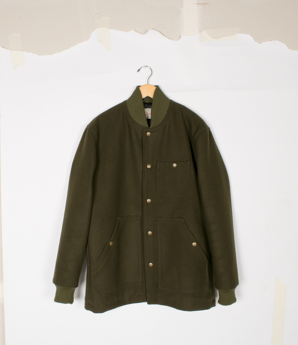 Ribbed Field Coat - Loden Melton - $460