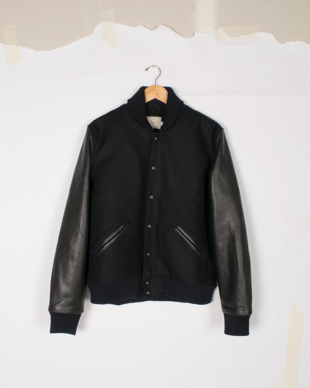 Varsity Jacket - Black/Black - $285/$575