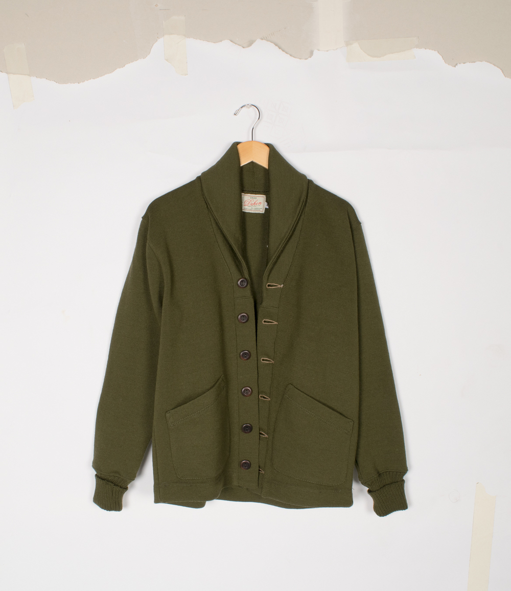 Shawl Sweater Coat 2.0 - Loden/Field Tan - $395