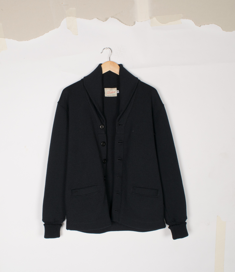 Shawl Sweater Coat - Black - $195/$395