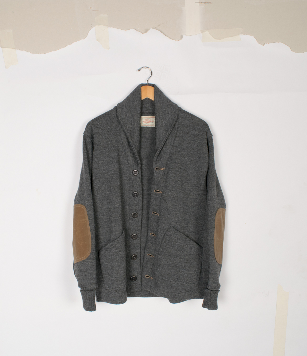 Shawl Sweater Coat 2.0 - Charcoal/Field Tan - $395