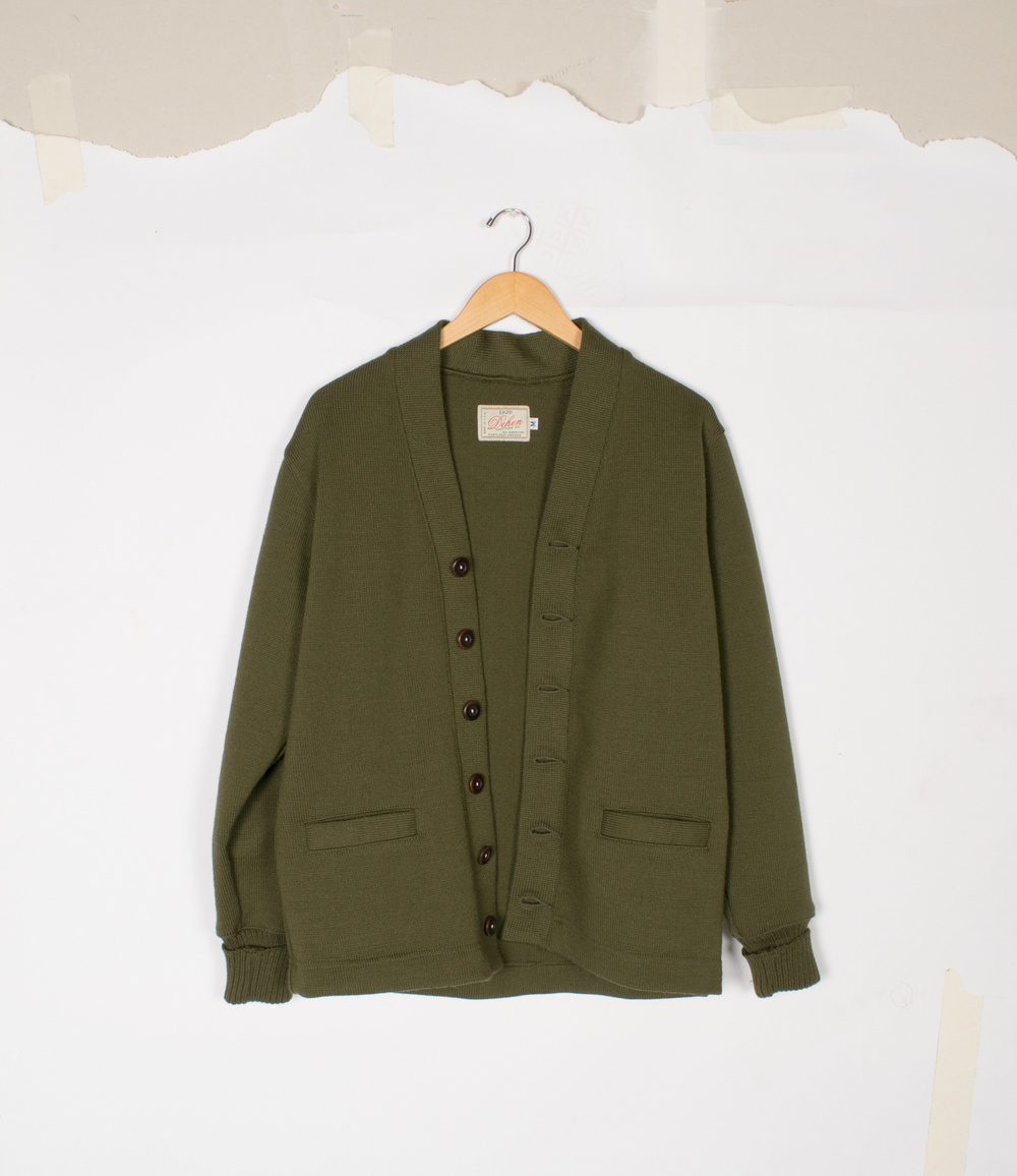 Classic Cardigan - Loden - $155/$325 | Also Dark Navy Classic Cardigan not shown