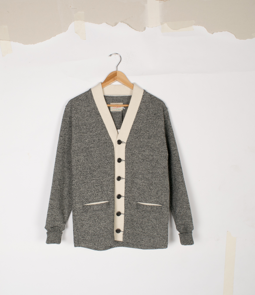 Classic Cardigan - Salt & Pepper - $155/$325