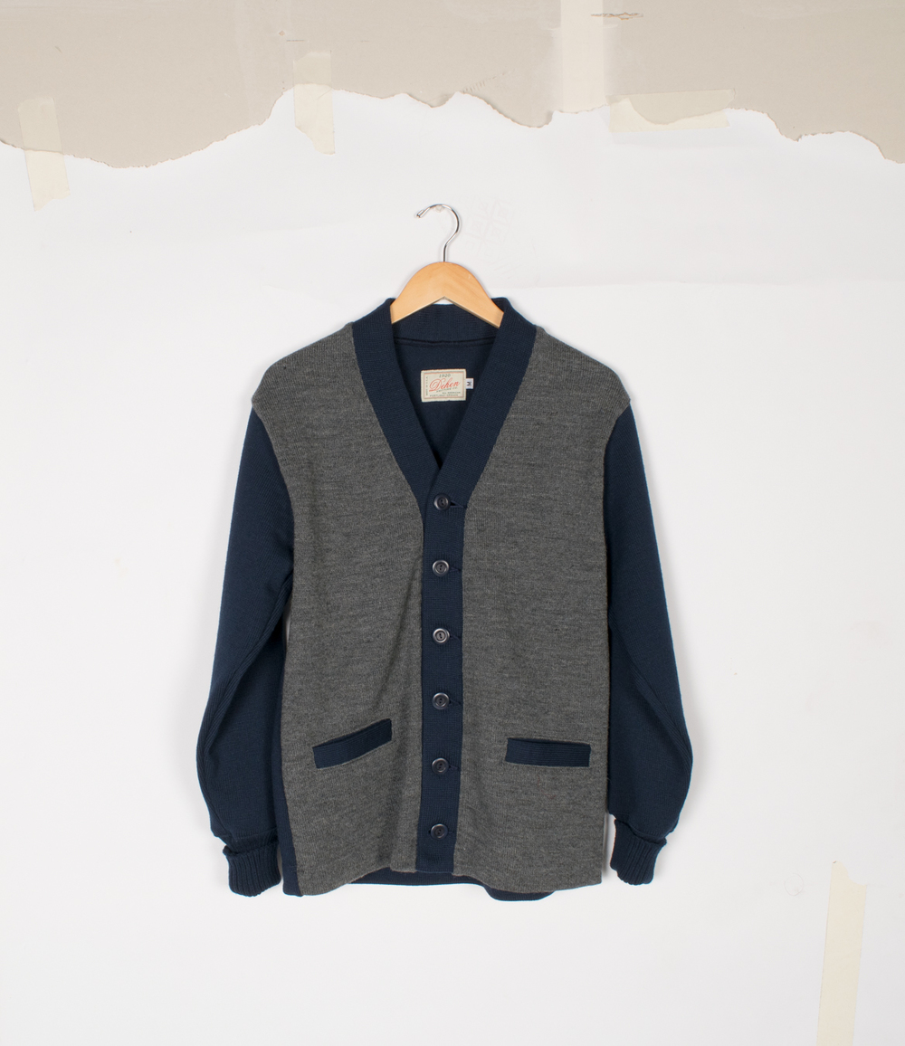 Boardwalk Cardigan - Dark Navy/Charcoal - $155/$325