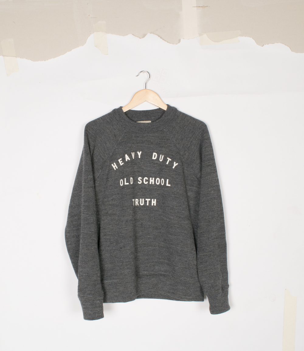 """HDOST"" Crew Neck - Charcoal - $295"