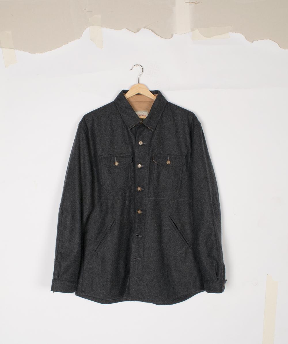 Crissman Overshirt - Charcoal - $295