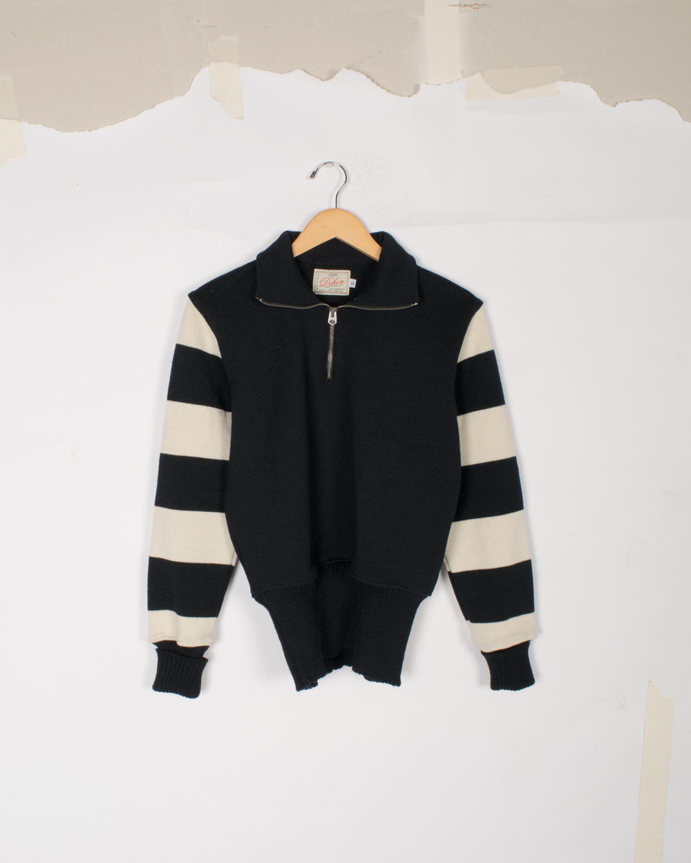 Motorcycle Sweater - Black/Off-White - $145/$295