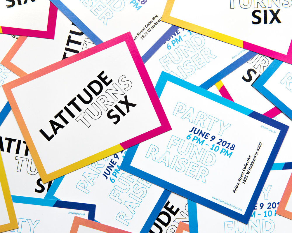 Sixth Annual Fundraiser branding / Postcard