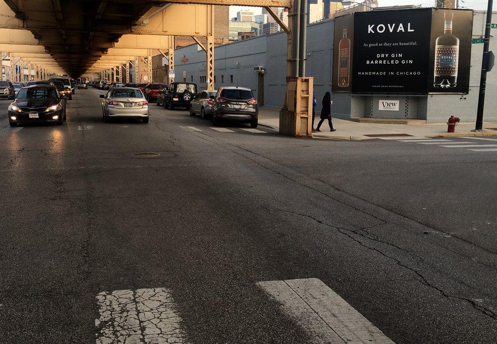 Billboard in Chicago's West Loop