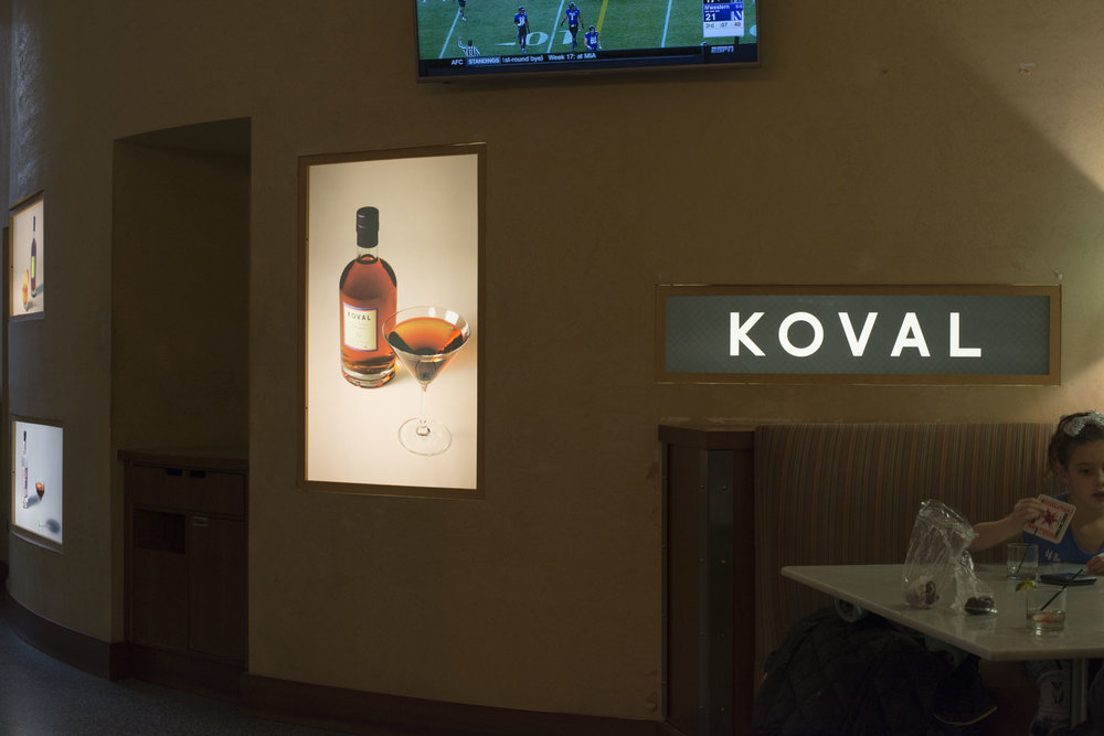 Cocktail Art Direction for KOVAL Pop-Up Bar in Macy's / Downtown Chicago