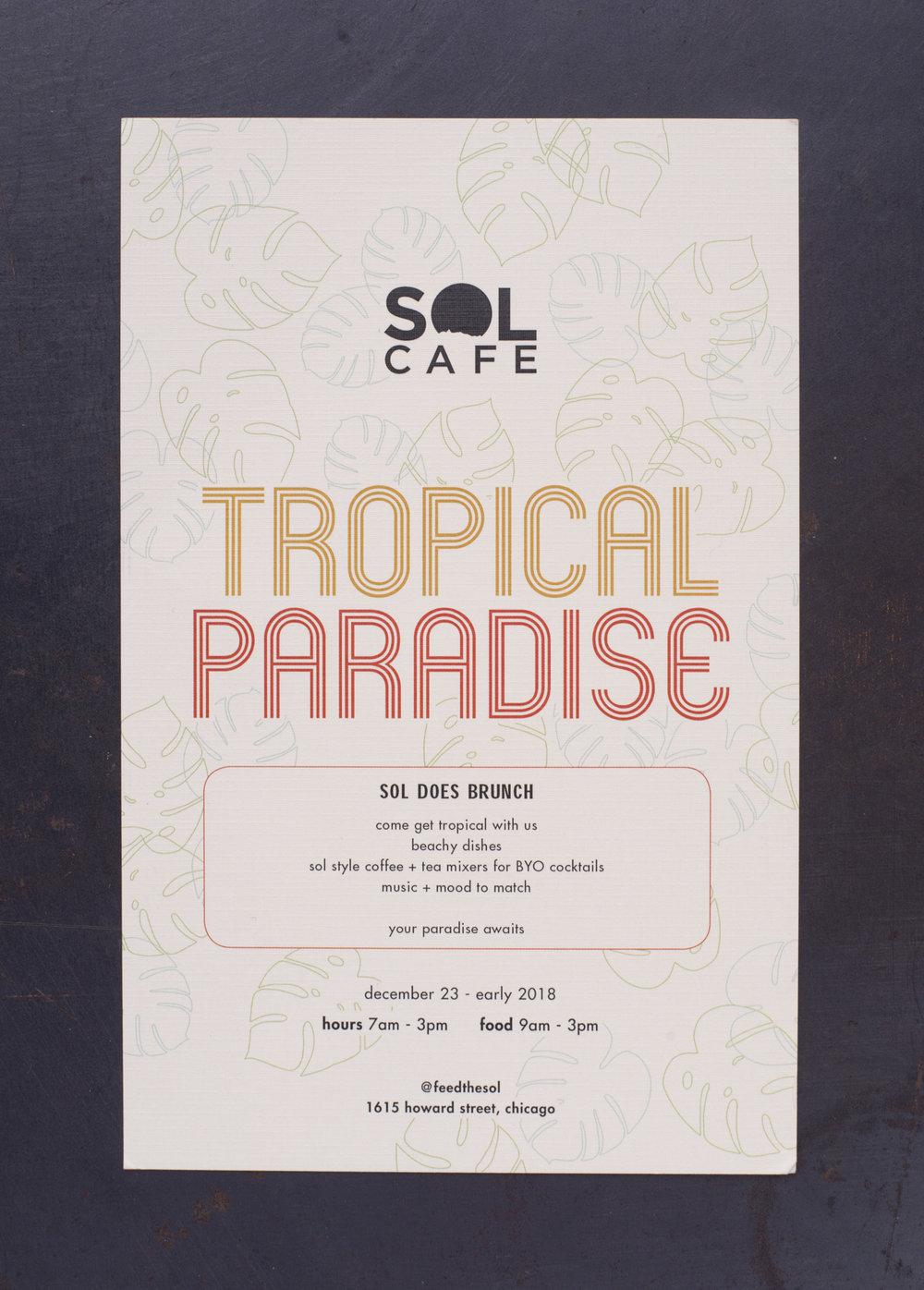 Tropical Paradise Pop-Up Menu