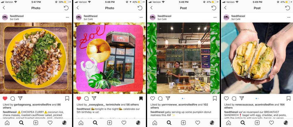 Instagram Posts for Sol