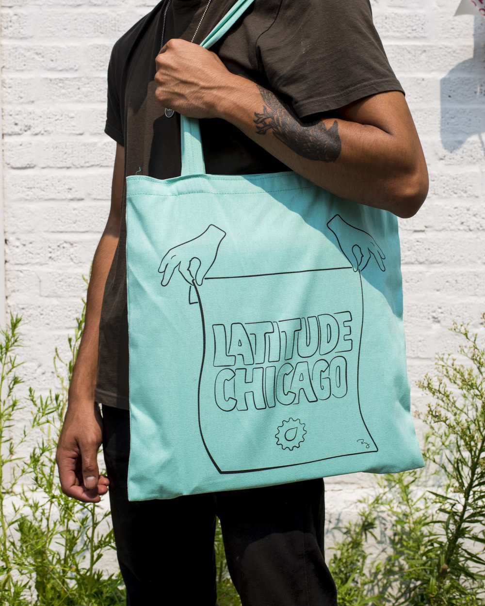 LATITUDE Tote Bag / Custom illustration