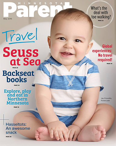 9 month photography session magazine cover Minnesota Parent
