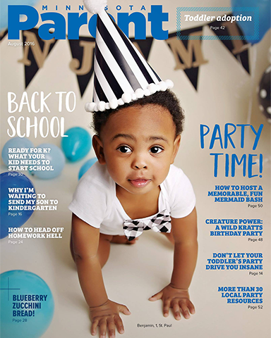 Cake smash magazine cover Minnesota Parent