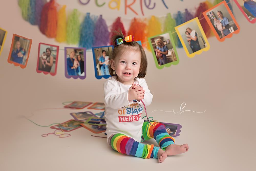 first birthday rainbow theme
