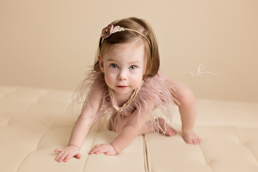 first birthday milestone session