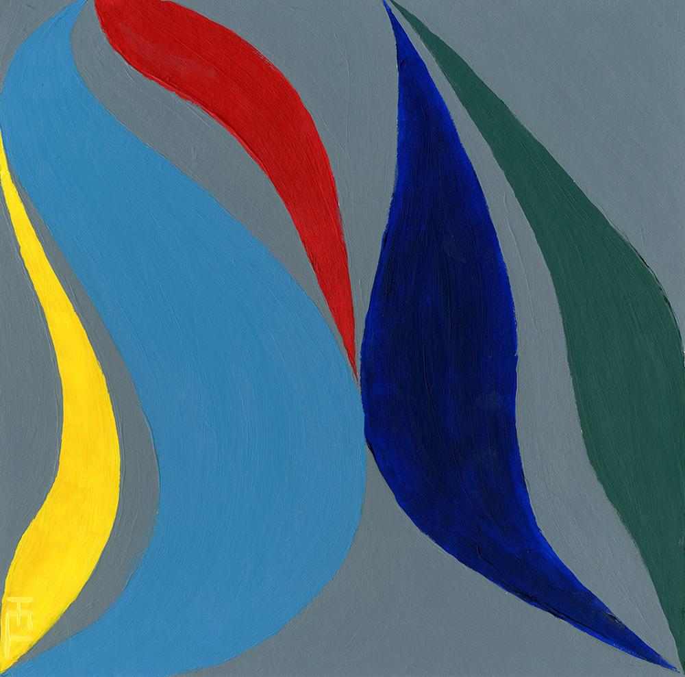 Heather Layne, organic abstraction, acrylic