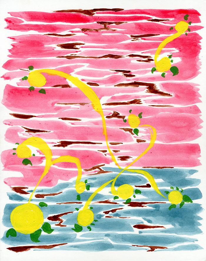 Melvin Tyree, organic abstraction, acrylic