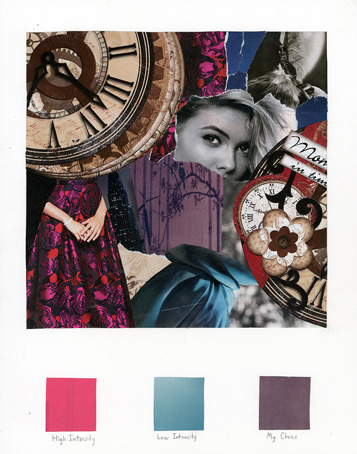 Alexandra Chase, color collage