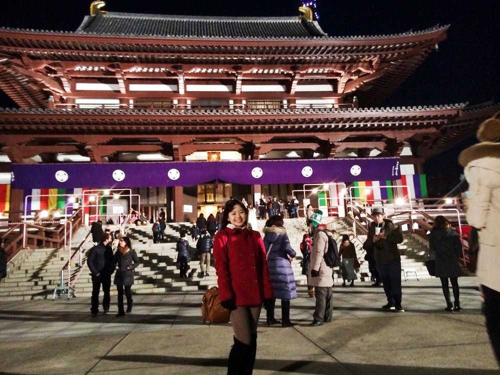 Divine Tio Zojoji Temple Tokyo Japan