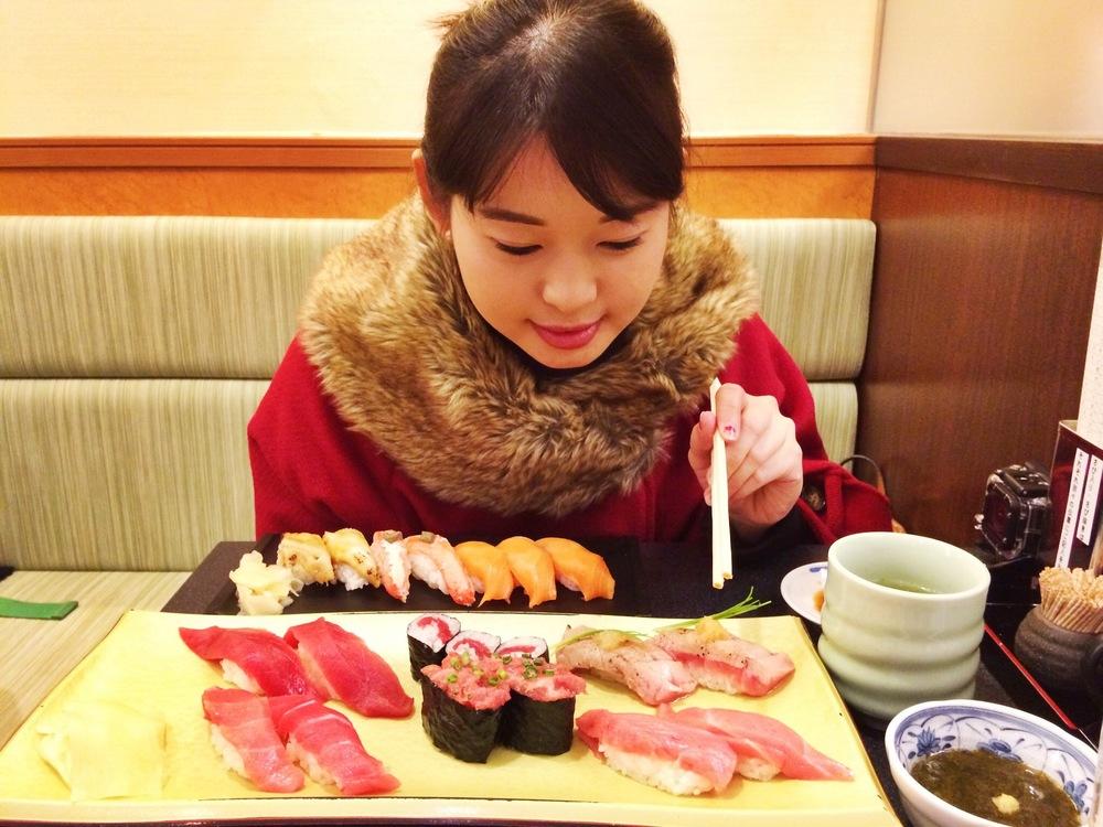 Divine Tio Sushi Zanmai Tsukiji Tokyo Japan