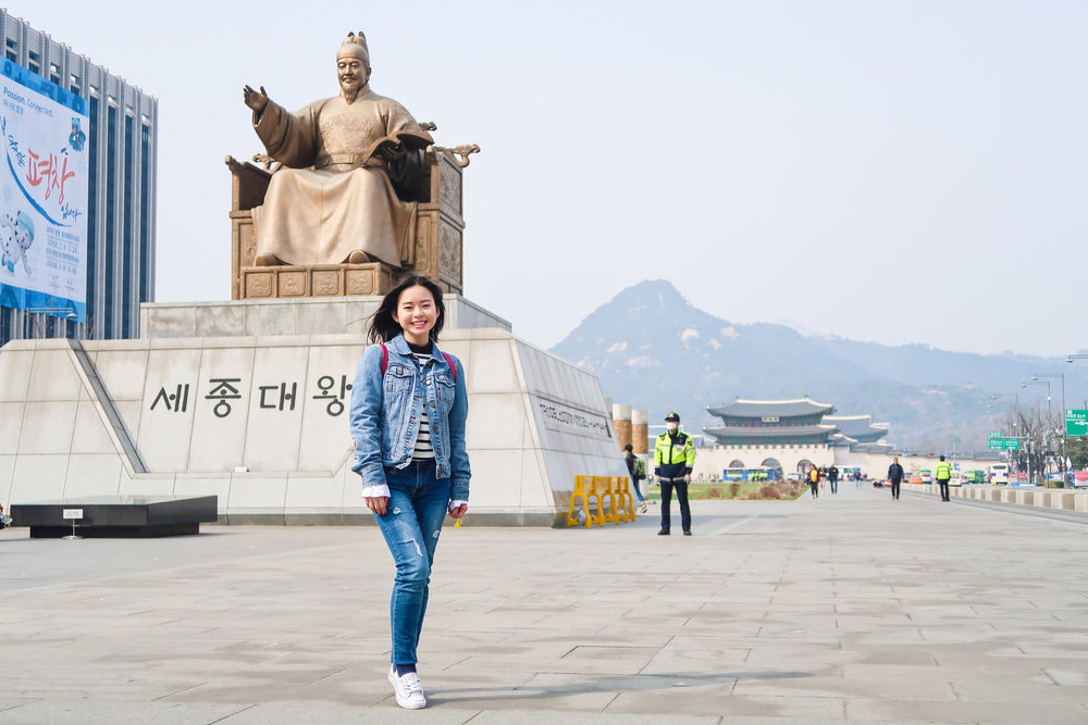 Divine Tio King Sejong Statue Seoul South Korea