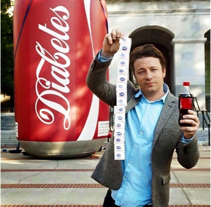 Jamie Oliver showing support