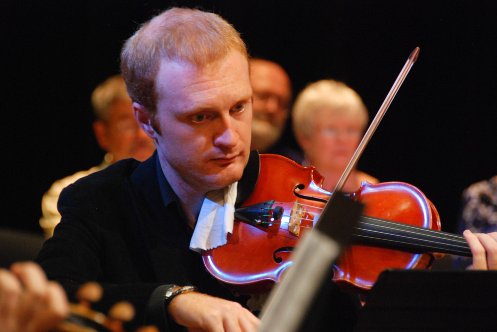 Violinist Lorenzo Prelli, September 19, 2014 at Chapel Performance Space
