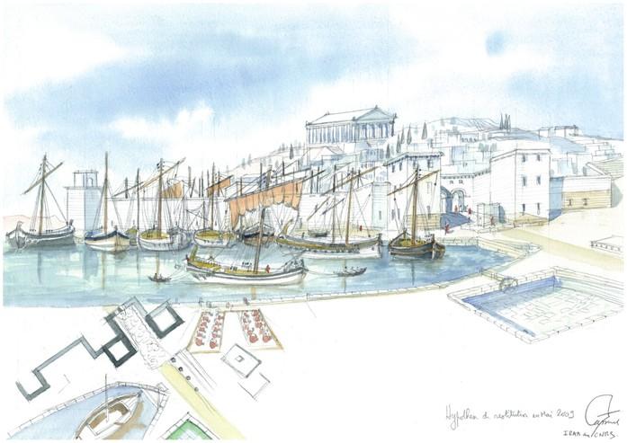 Le port de Massilia   http://multimedia.inrap.fr/atlas/marseille/decouvertes-marseille/port-de-massilia#.Vyt_R3CvGkw     Posted by Dos Mares