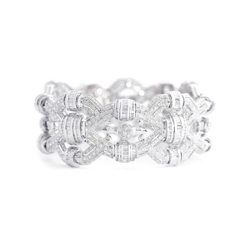 Damian By Mischelle bracelet, 18K white gold, set with white diamonds