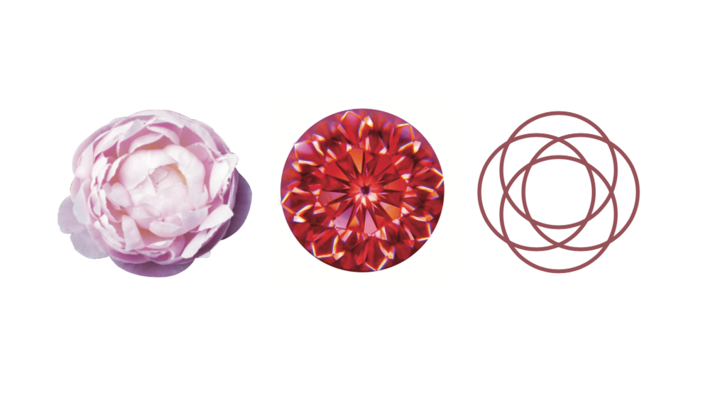 Most brilliant-cut diamonds have 57 facets but the Peonia boasts an incredible 88, and when they are viewed through a diamond scope, hundreds of delicate petals appear to the eye, as if radiating from its centre