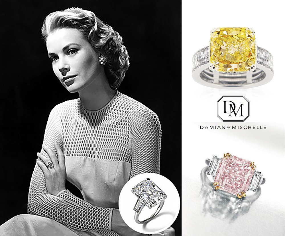 Grace Kelly, Princess of Monaco: Baguette Diamond with Sapphire