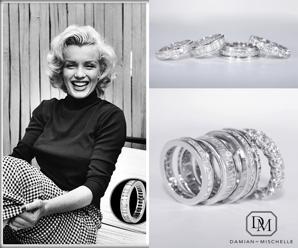 Marilyn Monroe: Baguette Eternity Band
