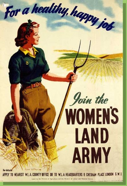 Women's Land Army recruitment poster (credit: Home Sweet Home Front)