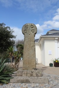 Penzance Market Cross, a carved cross originally thought to date to the 11th century and later used to mark Penzance's market centre in Greenmarket, now outside Penlee House (credit: Tom Goskar)