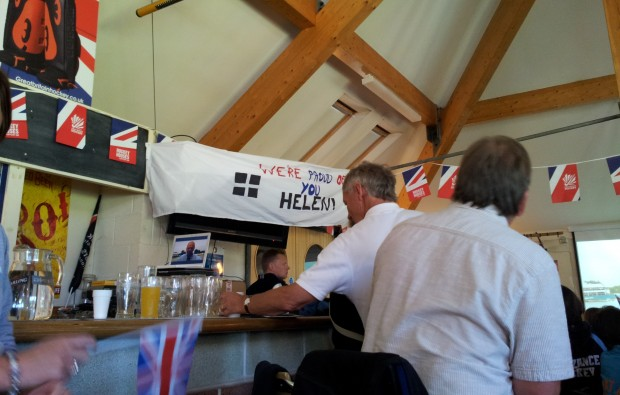Good luck banner at Penzance Hockey Club