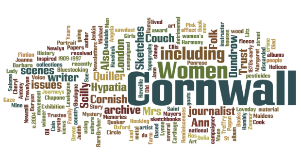 Elizabeth Treffry Collection wordle