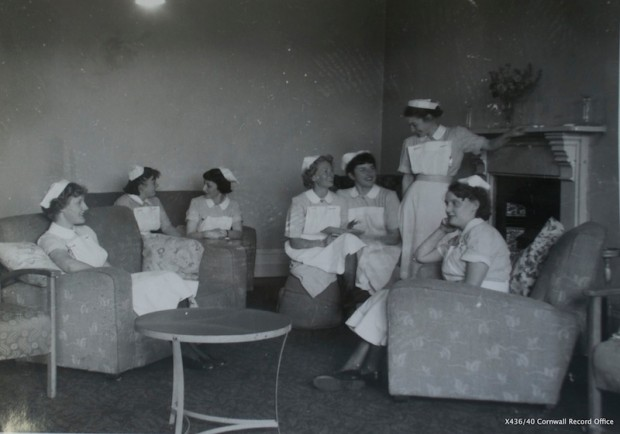 Nurses at Camborne-Redruth Hospital in 1954 (credit: Cornwall Record Office X436/46)
