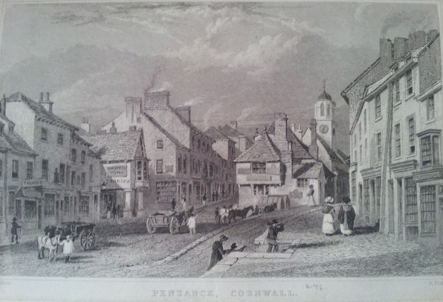 Penzance in its heyday in the 19th century (from Rev. Lach-Szyrma's History of Penzance, 1878)