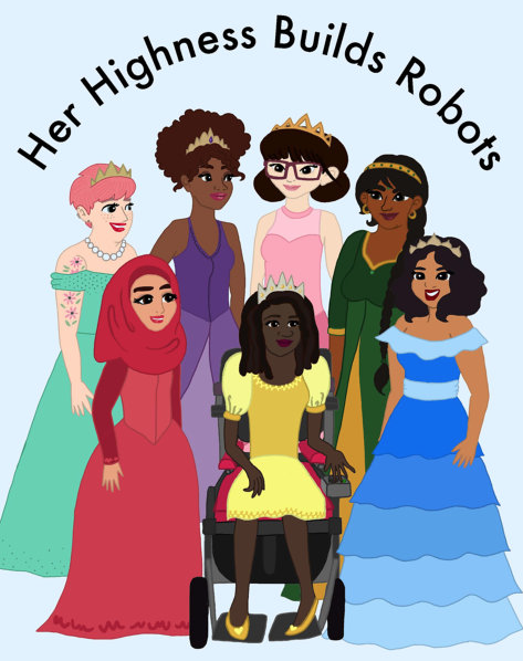 Her Highness Builds Robots (feminist coloring book!) from EqualiToys