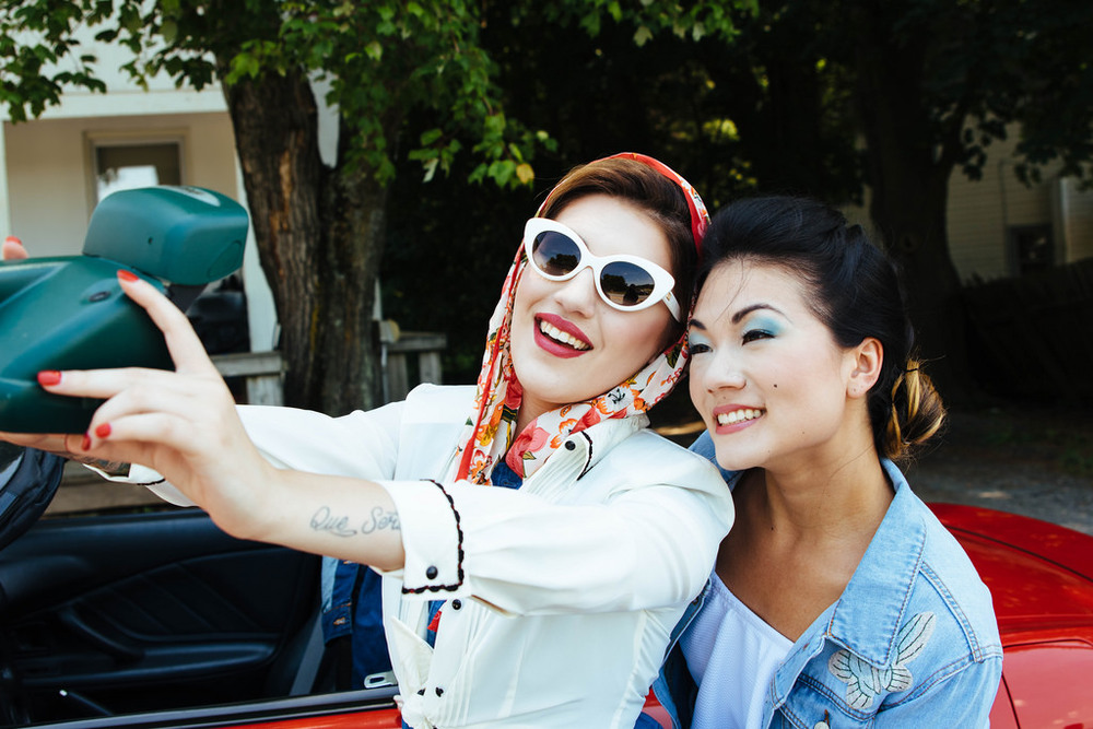 "Thelma and Louise took the very first onscreen selfie but back then, it wasn't called a selfie, it was just a ""hey, let's take a picture of us, nobody is here and my arm is long enough"" photo."